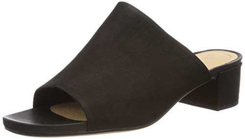 black Para Clarks Orabella Mujer Mules Daisy Nubuck Negro Tw1qY8gz