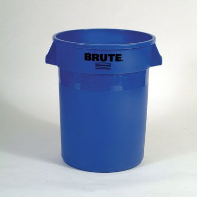 - BRUTE 32-Gal Round Containers [Set of 24] Color: Blue