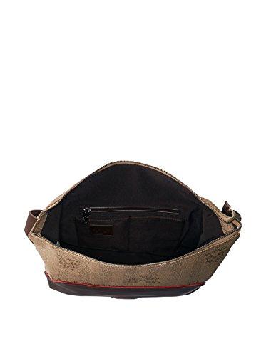 borsa a spalla Hobo bag, lady FW15, marrone/rosso