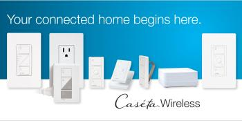 Lutron Caseta Wireless Smart Lighting Dimmer Switch and Remote Kit for Wall & Ceiling Lights, P