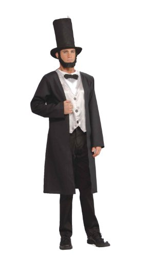 Costume Abe Lincoln (Forum Patriotic Party Collection Abraham Lincoln Costume, Black,)