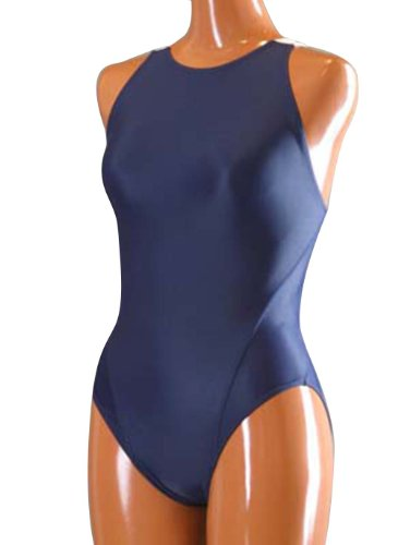JustinCostume Lycra Spandex Backless Womens One-piece Dancewear Leotard, S, Navy