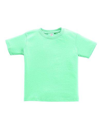 Rabbit Skins Toddler Ribbed Crewneck T-Shirt, Chill, 7 ()