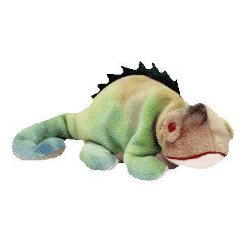 TY Beanie Baby - IGGY the Iguana (tye-dyed w/ spikes) (Iggy Beanie Baby)
