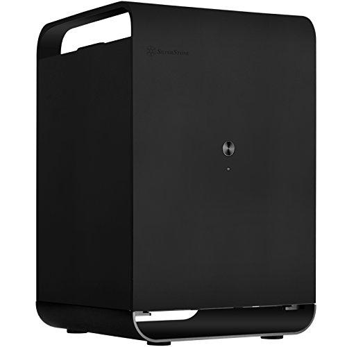 SilverStone Technology Mini-ITX Case Storage Aluminum Computer Chassis for Cloud CS01B Black