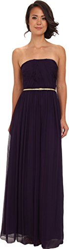 Donna Morgan Women's Multi-Directional Belted Bustier Dress Amethyst 16