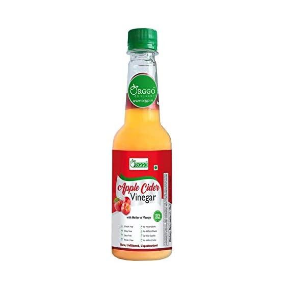 Orggo Apple Cider Vinegar - With Mother of Vinegar, Raw, Unfiltered, UnRefined - 400ml
