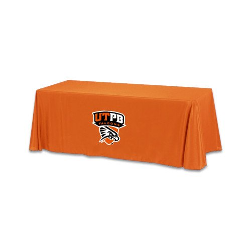UT Permian Basin Orange 6 foot Table Throw 'Official Logo' by CollegeFanGear