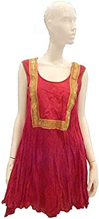 Sana'a Kayum Pink Cotton Casual Dress For Women
