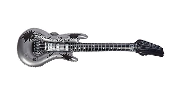 Amazon.com: Guitarra hinchable, Estándar, Plateado: Toys & Games