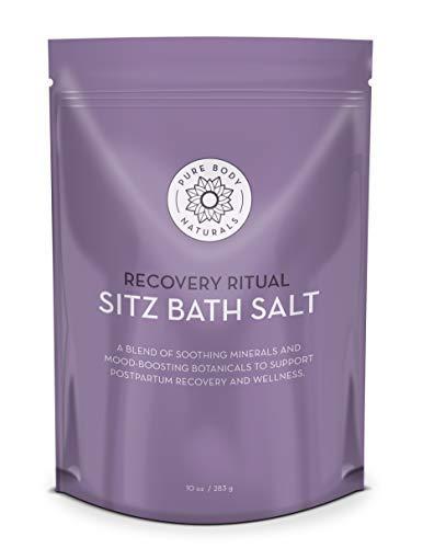 Sitz Bath Salt, Postpartum Bath Salt and Hemorrhoid Treatment, All-Natural Sitz Bath Soak, 10 oz by Pure Body Naturals