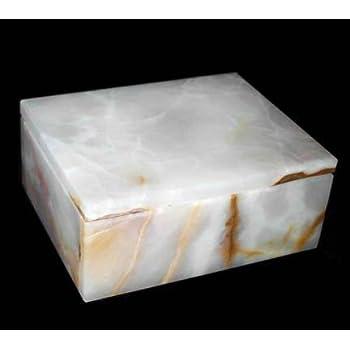 Amazon Com Khan Imports Decorative White Marble Box
