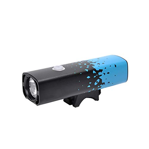 MA87 USB Rechargeable LED Bicycle Bright Bike Front Headlight Lamp Waterproof (Blue)