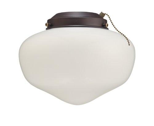 7781300 Schoolhouse Glass Indoor/Outdoor 4-Inch Fitter Ceiling Fan Light Kit,