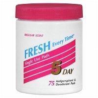 5 day deodorant pads - 5