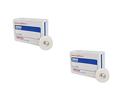 """Johnson & Johnson JJ5104 Zonas Porous Adhesive Tape, 1"""" x 10"""", White, 12 Count"""