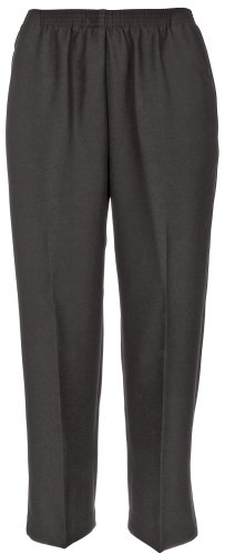 Alfred Dunner Women's Petites' Pull-On Flat-Front Pants