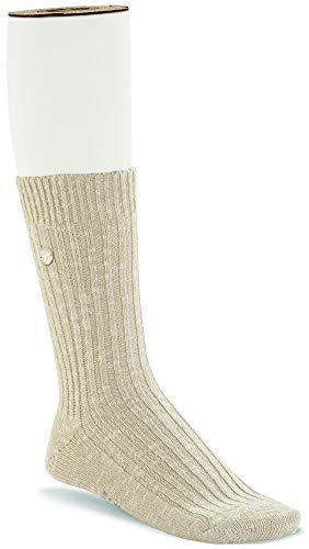 (Birkenstock Women's Cotton Slub Beige/White Size S)
