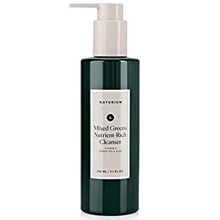Mixed Greens Nutrient-Rich Facial Cleanser - 7.1 oz, Anti-Aging, Breakout, Acne & Blemish Prevention, Clear Pores, Anti-Wrinkle Gel Face Wash with Vitamin C, Green Tea & Aloe by Naturium