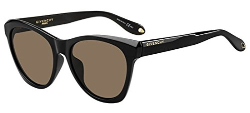 Givenchy GV7068/S 807 Black GV7068/S Round Sunglasses Lens Category 3 Size 55mm
