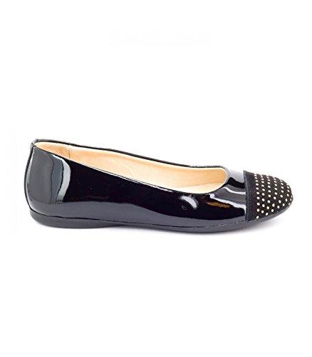 Boni Classic Shoes - Bailarinas de cuero Niña negro - Vernis Noir