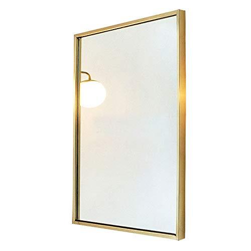 ZXZV Makeup Mirror, Nordic Wrought Iron Square Bathroom Mirror, Clothing Store Bedroom -