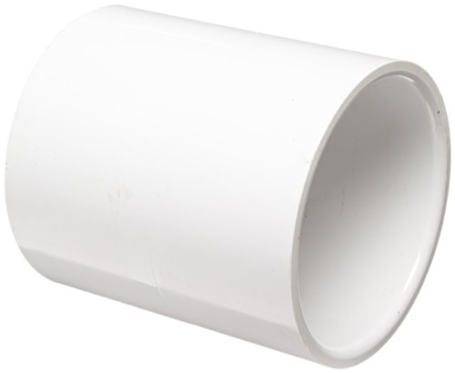 C Pipe Fitting, Coupling, Schedule 40, White, 2-1/2
