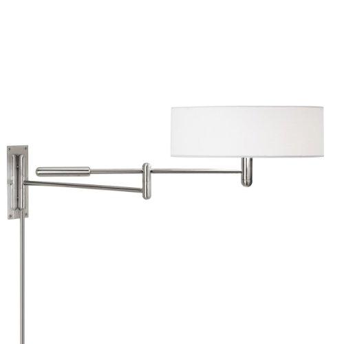 Sonneman 7002.35, Perno Swing Arm Tall Wall Sconce Lighting, 2 Light, Polished Nickel