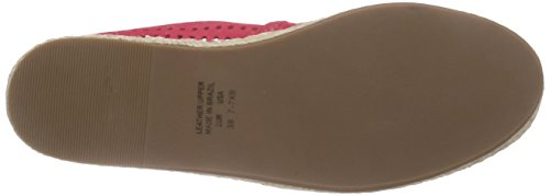 Buffalo London 125515 Nobuck, Women's Espadrilles Red - Rot (Electra 01)