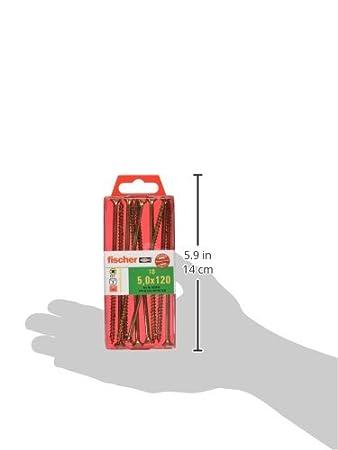 50 St/ück fischer Power-Fast FPF-SZ 2,5 x 20 YZF 50 B Spanplattenschrauben mit Senkkopf und Vollgewinde zur Befestigung von d/ünnen Bauteilen in Holzwerkstoffen 653919 Art.-Nr