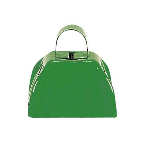 Green Metal Cowbell - 12 Pack