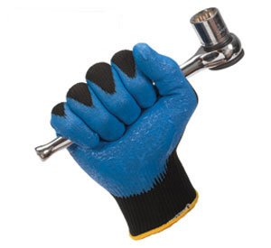 Jackson Safety G40 Blue Nitrile Foam Coated Gloves - Size: