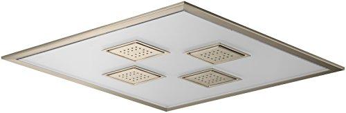 KOHLER 98741-BV Watertile Ambient Rain Overhead Rain Shower, Vibrant Brushed Bronze