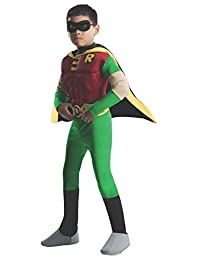 Rubies Costume DC Comics Teen Titans Deluxe Muscle Chest Robin Costume, Small