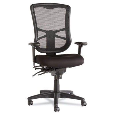 Alera ALEEL41ME10B Elusion Series Mesh High-Back Multifunction Chair, Black from Alera