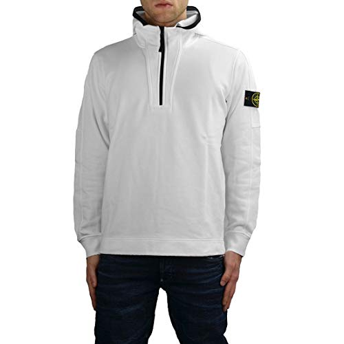 0e0badc3 Stone Island Men's 701560551V0001 White Cotton Sweatshirt