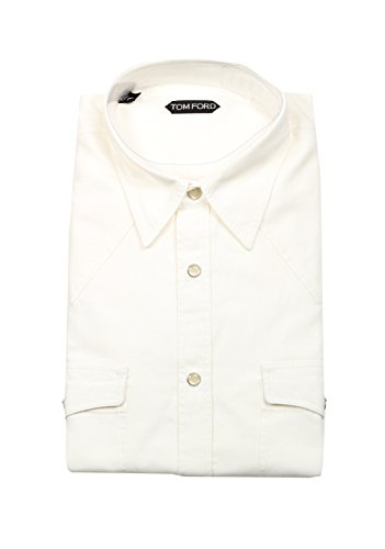 CL - Tom Ford Solid White Casual Shirt Size 43/17 U.S.