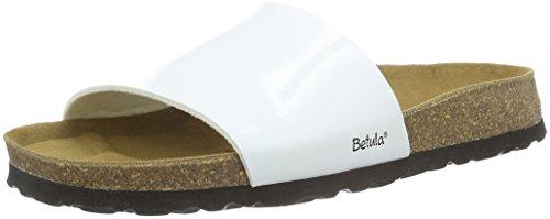 Betula Reggae - Mules Mujer Blanco - Weiß (Bf White Patent)