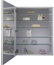 Jensen 52WH254DPF Metro Deluxe Oversized Medicine Cabinet with Polished Mirror, 20-Inch by 25-Inch