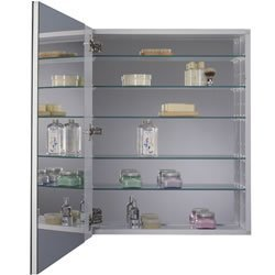 jensen 52wh304dpf metro deluxe oversized medicine cabinet with polished mirror 24inch by 30