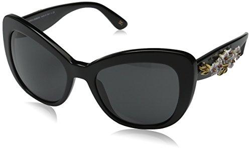 D&G Dolce & Gabbana Women's Almond Flowers Square Sunglasses, Black & Gray, 54 - Sunglasses Flower D&g