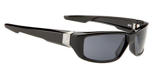 Spy OpticDirty Mo Polarized Sunglasses,Shiny Black Frame/Grey Lens,one - Sunglasses Polarized Mo Dirty
