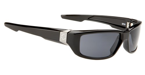 Spy OpticDirty Mo Polarized Sunglasses,Shiny Black Frame/Grey Lens,one - Dirty Mo Sunglasses