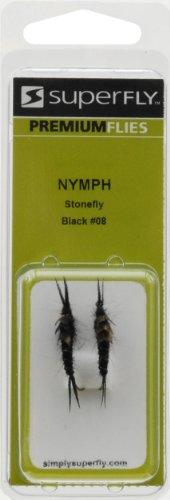 UPC 620070340426, Superfly Nymph Stonefly #08 Fishing Equipment, Black