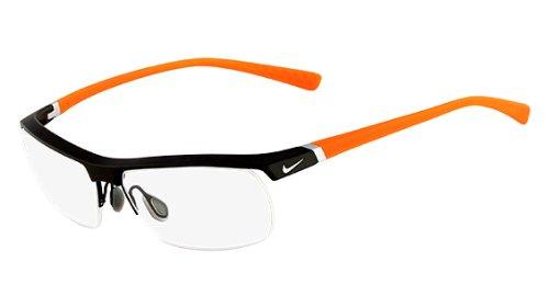 Nike Eyeglasses 7071/2 075 Dark Grey/Orange Demo 57 14 135