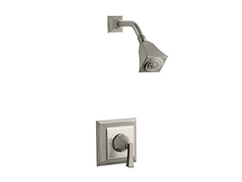Kohler TS462-4V-BN Memoirs Stately Rite-Temp Shower Valve Trim with Deco Lever Handle & 2.5 GPM Showerhead Brushed Nickel