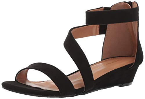 Report Women's Jacey Wedge Sandal Black 9 M -