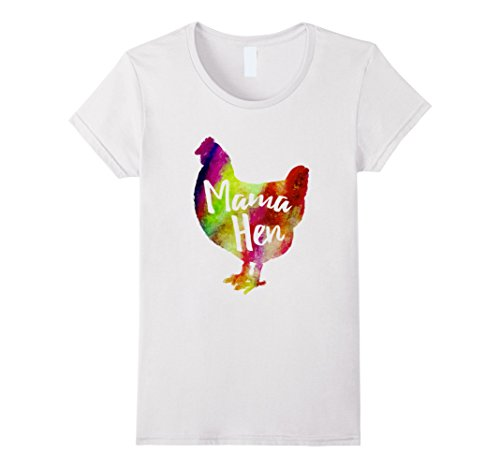 Mother Hen Costume (Womens Mama Hen Shirt Farmer Colorful Chicken Pet Mother Tshirt Medium White)