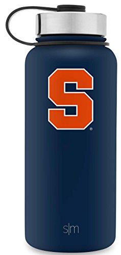 Simple Modern 32oz Summit Water Bottle - Syracuse Orange Vacuum Insulated 18/8 Stainless Steel Travel Mug - - Matte Finish Orange
