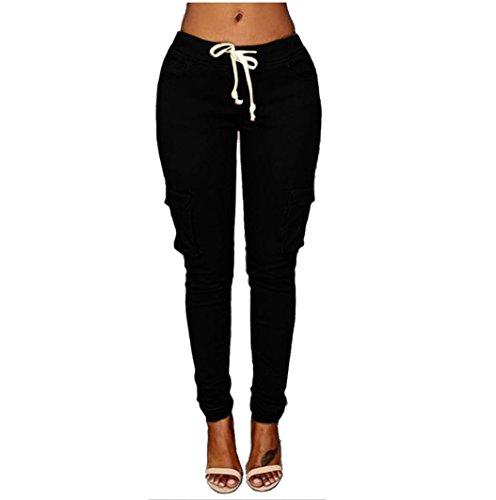 iTLOTL Women Pants Stretch Pencil Trousers High Waist Slim Stretch Elastic Trousers